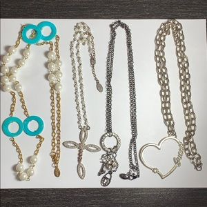4 Guess necklaces